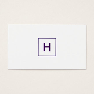Royal Purple Monogram Square Business Card
