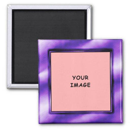 Royal Purple Photo Frame Magnet