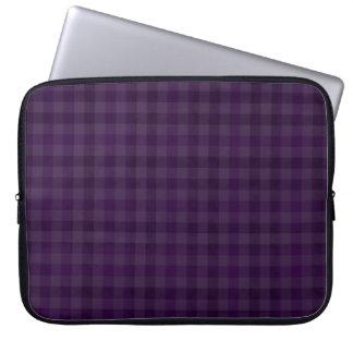 """Royal Purple Plaid Custom 15"""" Laptop Sleeve"""