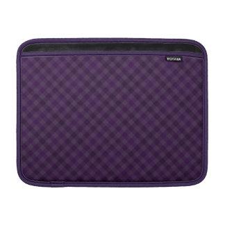 Royal Purple Plaid Custom Macbook Air Sleeve