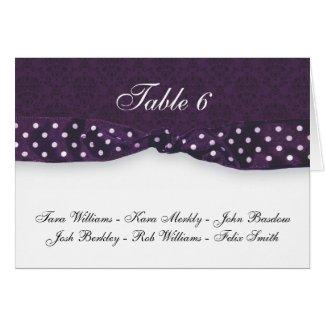 Royal Purple Polka Dot Ribbon card