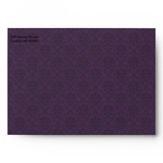 Royal Purple Polka Dot Ribbon envelope