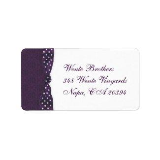 Royal Purple Polka Dot Ribbon label