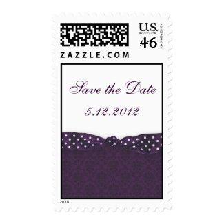 Royal Purple Polka Dot Ribbon stamp