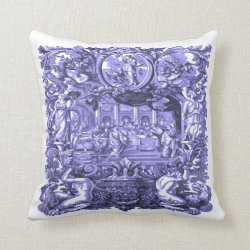 Royal Purple Roman Feast Pillow Throw
