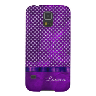 Royal Purple Silver Gem Personalized Case For Galaxy S5