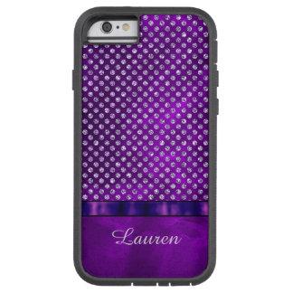 Royal Purple Silver Gem Personalized Tough Xtreme iPhone 6 Case