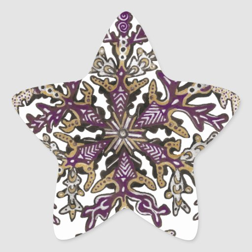 Royal Purple Snow | Customizable Star Sticker