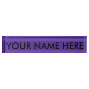 Royal Purple Solid Color Name Plate