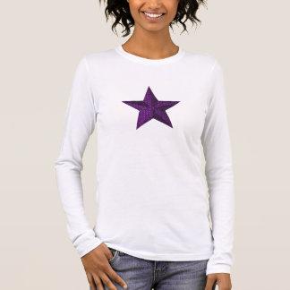 """Royal Purple Star"" Long Sleeve T-Shirt"