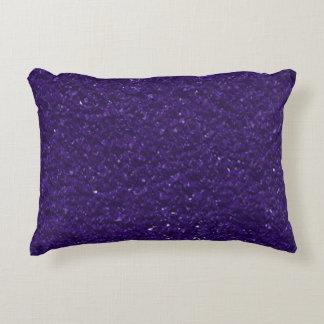 Royal Purple Texture Accent Pillow