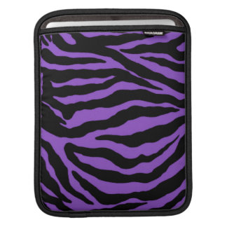 Royal Purple Tiger Striped Animal Skins Sleeves For iPads