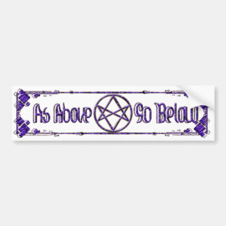 Royal Purple Unicursal Bumper Sticker