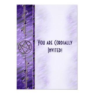 Royal Purple Unicursal Card
