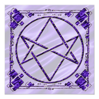 Royal Purple Unicursal Card