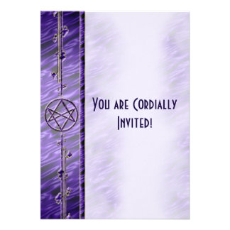 Royal Purple Unicursal Personalized Invite