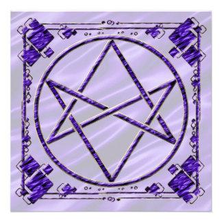 Royal Purple Unicursal Personalized Invites