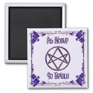 Royal Purple Unicursal 2 Inch Square Magnet