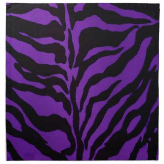 Royal Purple Zebra Napkin
