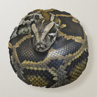"""""""Royal Python"""" design products Round Pillow"""