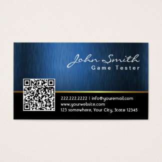 Royal QR code Game Testing Business Card