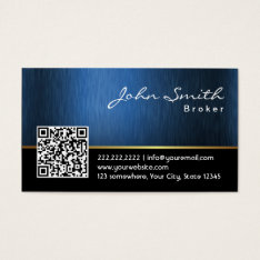 Royal QR code Real Estate Broker Business Card at Zazzle