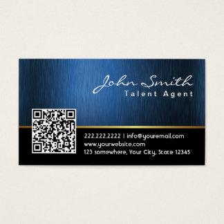 Royal QR code Talent Agent Business Card
