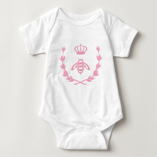 Royal Queen Bee Crown | Pink Baby Bodysuit