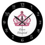 Royal Queen Monogram Wall Clock