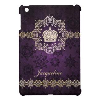 Royal Queen Princess Crown Damask Name Initials iPad Mini Cases