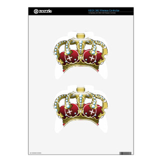 Royal Red Crown Xbox 360 Controller Decal
