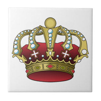 Royal Red Crown Small Square Tile