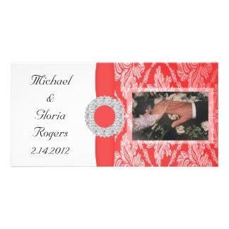Royal Red Damask Set Card
