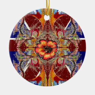 Royal Red fantasy Ceramic Ornament