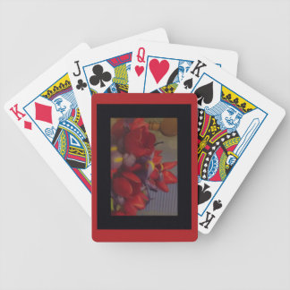 Royal Red Flowers Playing Cards
