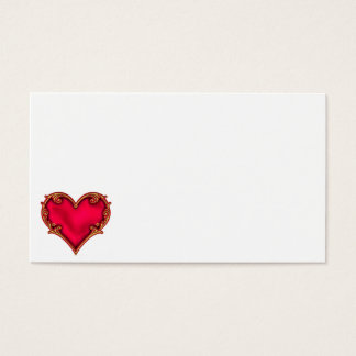 Royal Red Heart Business Card