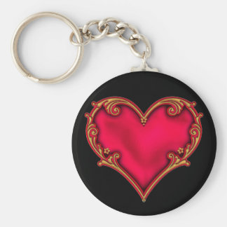 Royal Red Heart Keychain