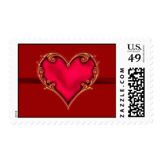 Royal Red Heart Stamp
