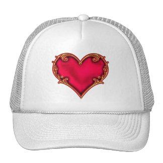 Royal Red Heart Trucker Hat