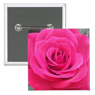 Royal Red Rose Pinback Button