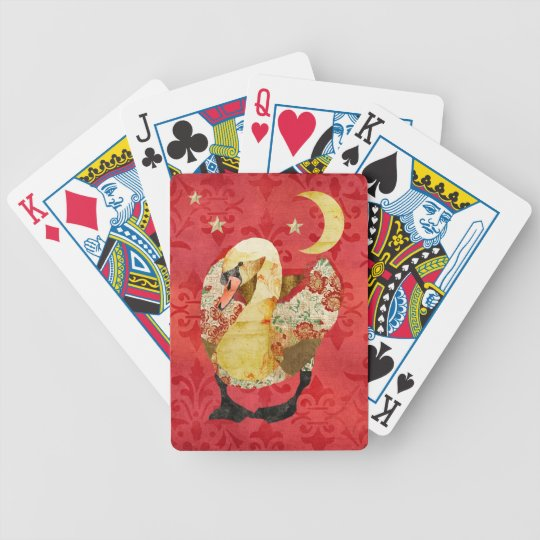 Royal Red Rose Swan  Card Deck