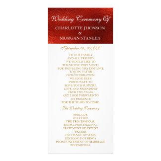 Royal Red Shiny White Wedding Program