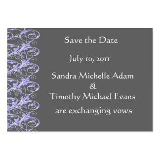 Royal Romance Mini Save The Date Cards Large Business Cards (Pack Of 100)