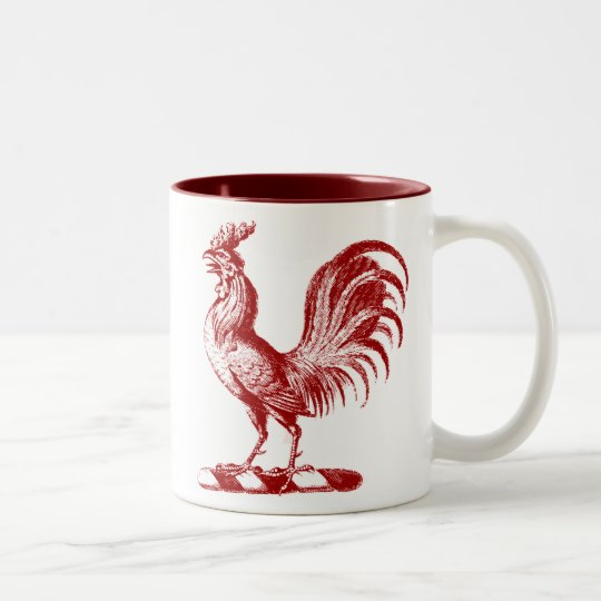 Royal Rooster Red Two-Tone Coffee Mug