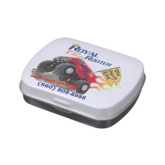 Royal Rooter Logo Customer Appreciation w/Phone Jelly Belly Candy Tin