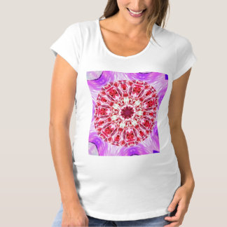 Royal Rose Radiant Orchid Floral Kaleidoscope Maternity T-Shirt