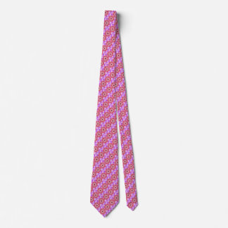 Royal Rose Radiant Orchid Floral Kaleidoscope Tie