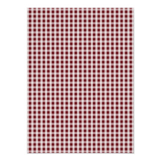 Royal Rose Red Gingham Check Plaid Pattern 5.5x7.5 Paper Invitation Card