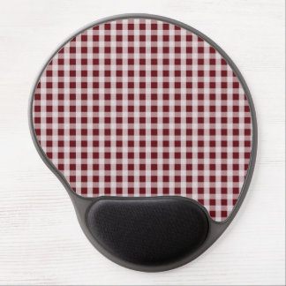 Royal Rose Red Gingham Check Plaid Pattern Gel Mouse Pad