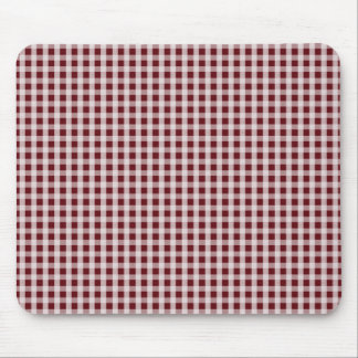 Royal Rose Red Gingham Check Plaid Pattern Mouse Pad